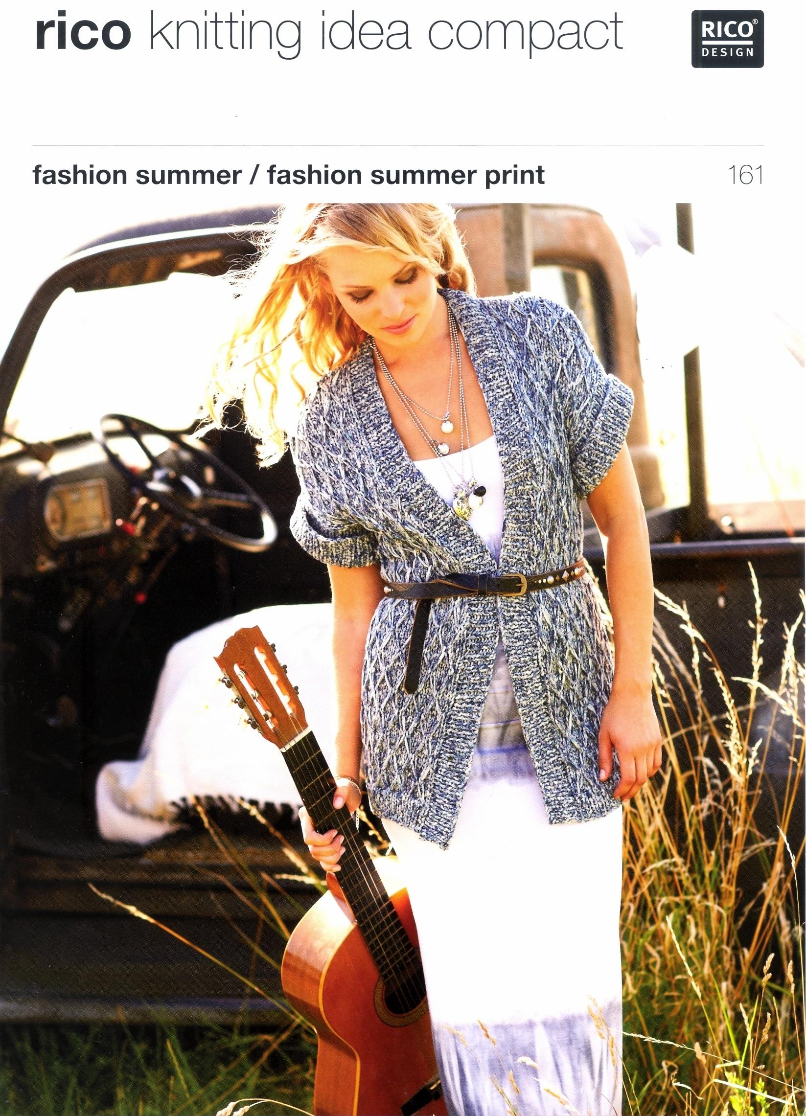 Knitting Pattern Womans Long and Short Waistcoats to knit. Rico Design 1...