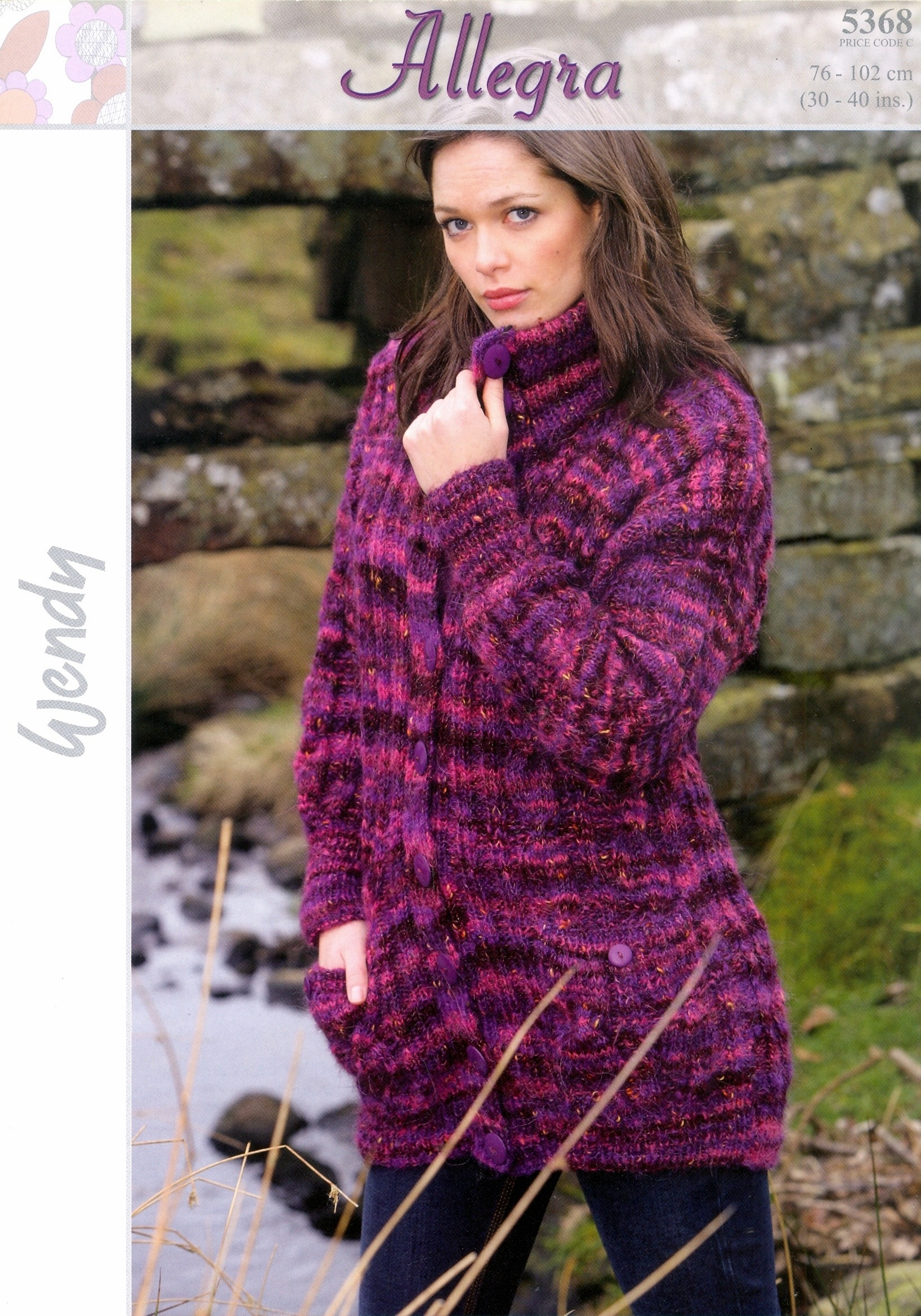 Knitting Pattern Ladys Allegra Long Jacket With Pockets To Knit Wendy 53...